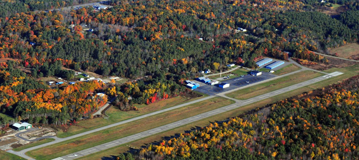 Fall foliage around airport